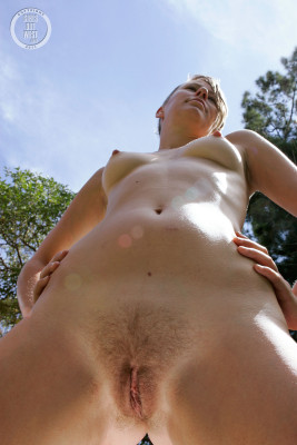 Charming question Naked yoga girl outdoors